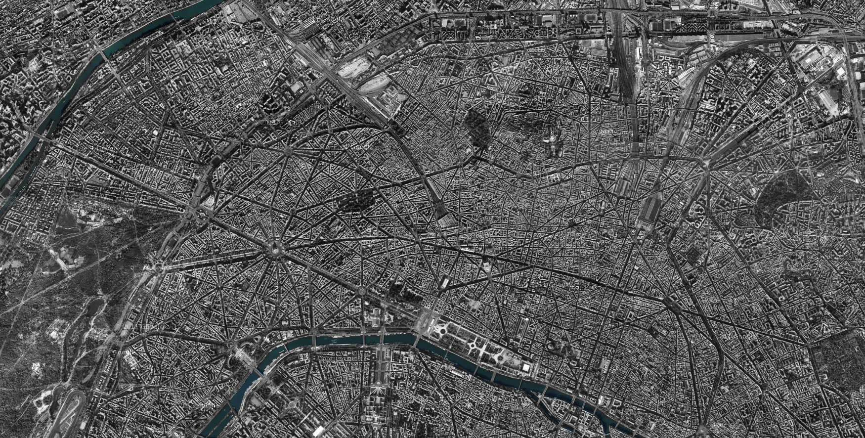 Carte satellite Paris Spellwood